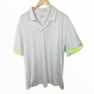 Nike Golf White Polo Shirt Collared Mens XXL Lime